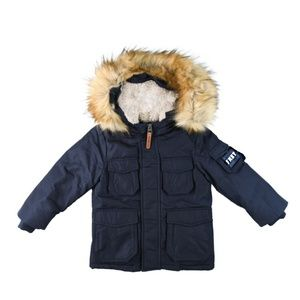 Fred Mello Navy Winter Jacket for Boys and Girls